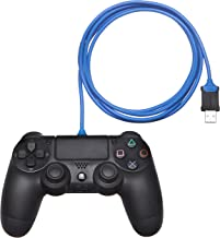AmazonBasics PlayStation 4 Controller Charging Cable - 6 Foot, Blue