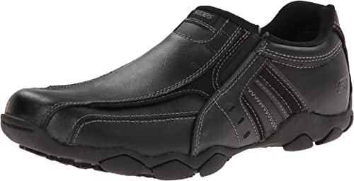 Skechers USA Men's Diameter-Nerves Slip-On Loafer,8 M US,schwarz Leather