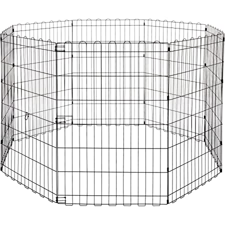 """AmazonBasics Foldable Metal Pet Exercise and Playpen Without Door, 36"""""""