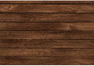 Haboke 7x5ft Wood Backdrop Durable/Soft Fabric Rustic Wood Floor Background for Newborn Baby Shower Birthday Photography Supplies Portrait Photo Shoot Studio Props