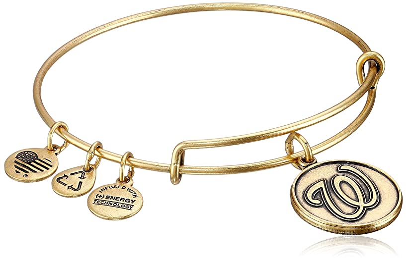 Alex and Ani Washington Nationals Cap Logo Expandable Bangle Bracelet