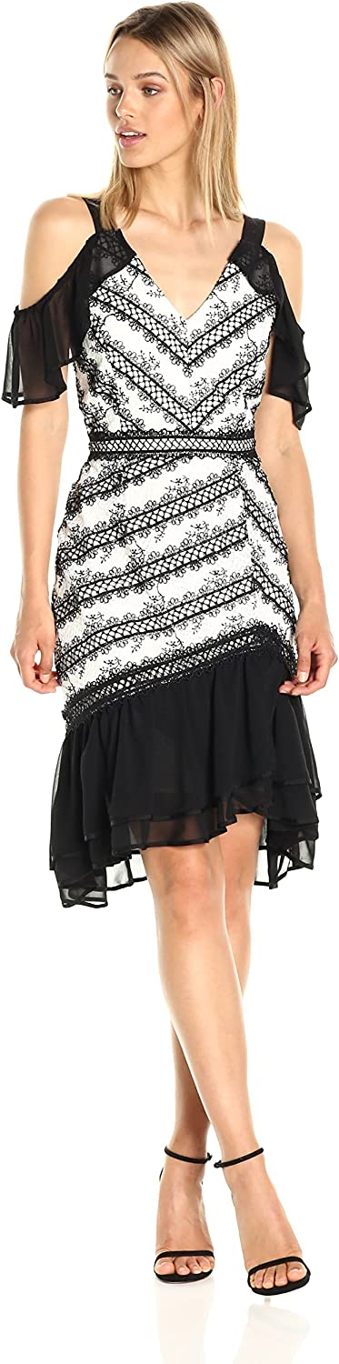 Adelyn Rae Womens Nola Frill Dress Dress