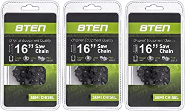 8TEN Chainsaw Chain for Stihl MS170 MS180 017 009 019 023 PM400 61 PMM3 55 16 Inch 0.043 3/8 55DL 3 Pack