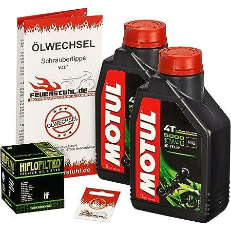 Motul 10w 40 Öl Hiflo Ölfilter Für Yamaha Raptor 660 Yfm 660 R 01 05 Am01w Ölwechselset Inkl Motoröl Filter Dichtring Auto