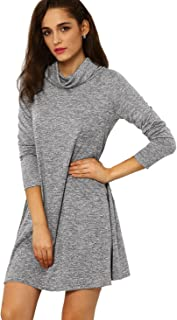 cowl tunic dress