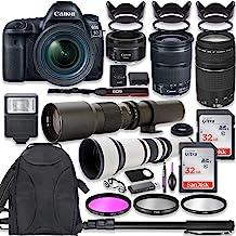 Canon EOS 5D Mark IV DSLR Camera w/ 24-105mm STM Lens + Canon EF 75-300mm III Lens, Canon 50mm f/1.8, 500mm Lens & 650-130...