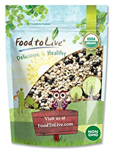 Organic Black Bean Soup Mix, 1 Pound - Contains Non-GMO Black Beans, Black-eyed Peas, Pearled Barley, and Navy Beans, Vegan, Bulk, Good Source of Dietary Fiber, Protein, Copper