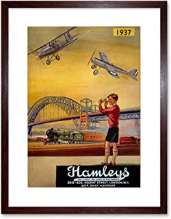 The Art Stop AD HAMLEYS Toy Shop Regent London UK Framed Print F12X3082