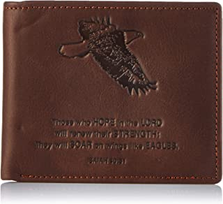 Christian Art Gifts Genuine Leather Wallet for Men | Quality Classic Brown Leather Bifold Wallet | Christian Gifts for Men