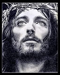 YOMIA DIY Diamond Painting Religious Needlework Cross Stitch Patterns Jesus Paint by Number Kit, 5D Crystal Rhinestone Diamond Embroidery Paintings Pictures