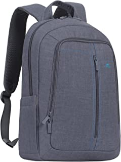 "Riva Case 7560 Laptop Canvas Backpack 15.6"", Grey"