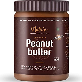 Nutrio Chocolate Peanut Butter 1KG (Chocolaty| Pre Workout Supplements | Weight Loss/Gainer Product) (1 KG)