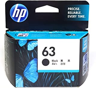 HP Office Product 63 Original Black Ink Cartridge, Black, (F6U62AA)