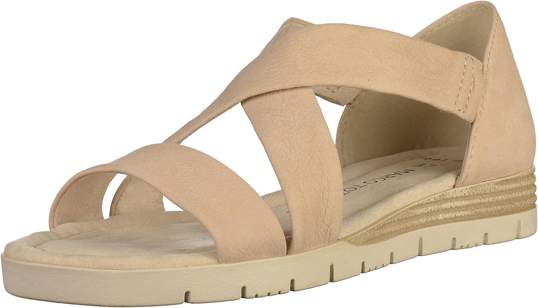MARCO TOZZI Damen Sandaletten Sandalette bis 30mm Absatz 2-28605-28 404 beige 243921
