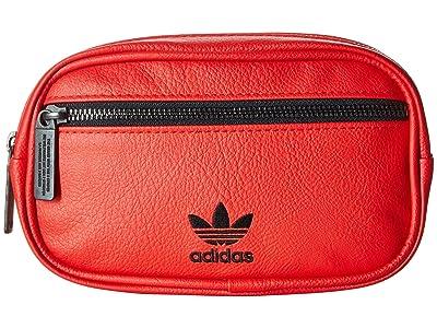 adidas Originals Originals PU Leather Waist Pack (Scarlet) Bags