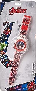 Marvel Captain America Boys Digital Dial with Rotating Running light Wristwatch - SA7177 Cap. American-B