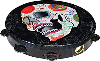 Remo Artbeat Artist Collection Tambourine - Jose Pasillas, Candy Skull