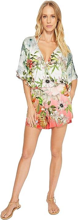 Hibiscus Sublime Eliza Kimono Sleeve Romper