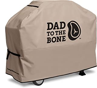 Best Grillfriend Premium Grill Cover | Great Gift for Dad | Universal Fit for 3-4 Burner BBQ Grills | Fun BBQ Accessory | Dad to The Bone Design