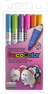 Uchida 200-6C 6-Piece Decocolor Fine Point Paint Marker Set
