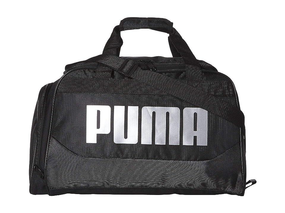 PUMA Transformation 4.0 Duffel (Black/Silver) Duffel Bags