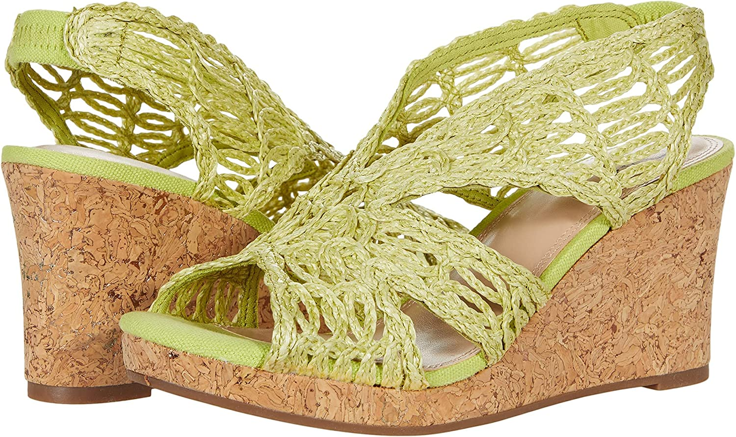 Impo TERINEE Large-scale sale Woven Raffia Platform Memory Foam with Sandal Wedge Max 52% OFF