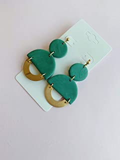 Very lightweight- Studs earrings  \u2013  Statement Polymer clay  Dangle Earrings Polymer clay Earrings Nickel and lead free post