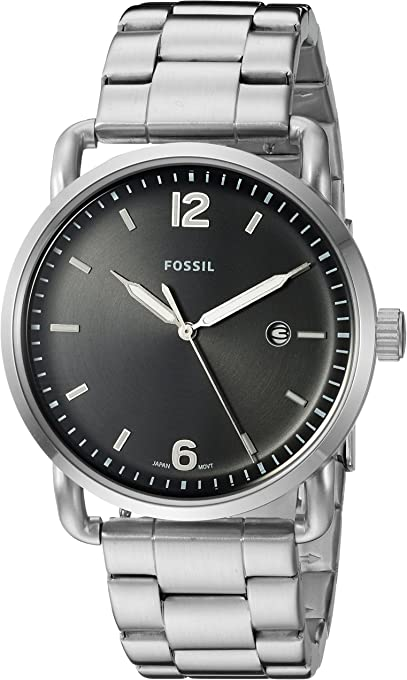 Fossil The Commuter Silver-Tone Stainless Steel Watch FS5391