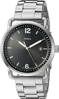 Fossil Men's The Commuter Analog Quartz/3 Hand Silver-Tone Watch, (FS5391)