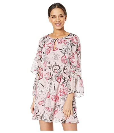 Cupcakes and Cashmere Rosea Floral Printed Dress (Antique Lilac) Women
