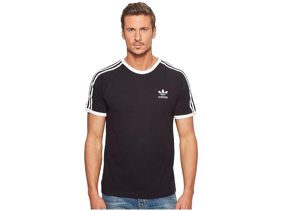 0731a81a17446 adidas Originals 3-Stripes Tee (Black) Men's T Shirt