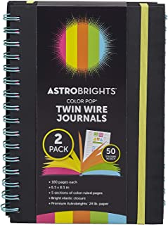 Astrobrights Twin Wire Journals, 6.5