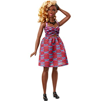 Amazon.es: Barbie - Fashionista, muñeca con Vestido Zigzag (DVX79 ...
