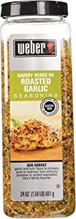 Weber All Natural Savory Herbs w/ Roasted Garlic Seasoning, No MSG, Gluten Free