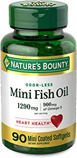 Best Nature's Bounty Mini Fish Oil, 1290mg, 900mg of Omega-3, 90 Mini Coated Softgels Review
