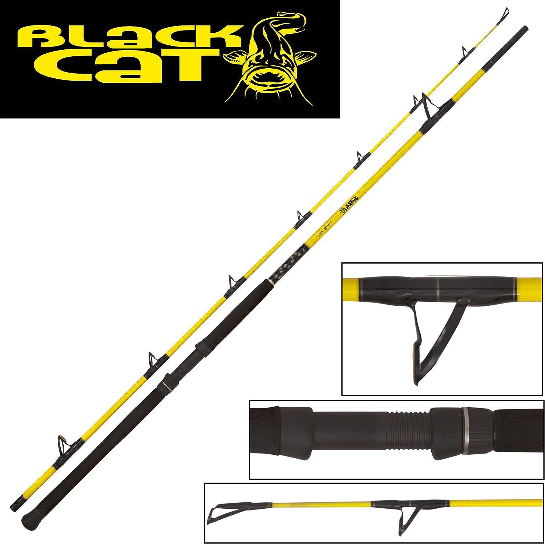 schwarz Cat Freestyle Rute 2,80m 400g Wallerrute, Welsrute, Angelrute zum Welsangeln, Ruten zum Wallerangeln, Angelruten zum Abspannen auf Waller, Wels