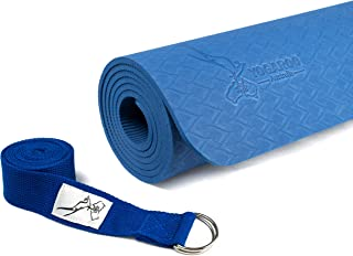 "YOGAROO Australia Eco Friendly Non Slip Yoga Mat, SGS Certified TPE Material - Textured Non Slip Surface and Optimal Cushioning, 72""x 25"" Thickness 1/4"" (6mm)"