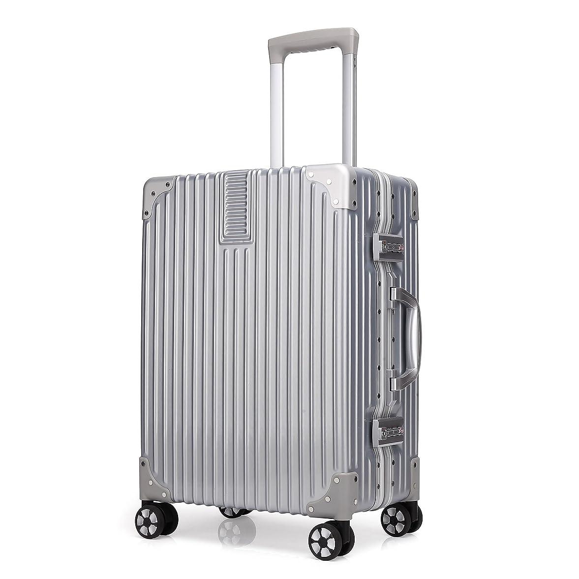 驚かす増強する乏しいクロース(Kroeus)スーツケース 大型 軽量 人気 キャリーケース 旅行用品 出張 TSAロック搭載 機内持込可 大容量 耐衝撃 ヘアライン仕上げ 4輪ダブルキャスター 静音