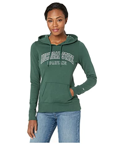 Champion College Michigan State Spartans Eco University Fleece Hoodie (Dark Green 3) Women