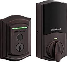 Kwikset Halo Touch Traditional Arched Wi-Fi Fingerprint Smart Lock No Hub Required Featuring SmartKey Security in Venetian...