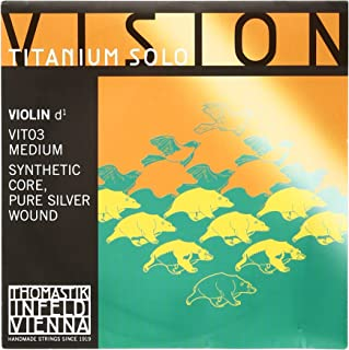 Thomastik-Infeld VIT03 Vision Titanium Solo Violin Strings, Single D String, 4/4 Size, Synthetic Core, Pure Silver Wound