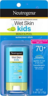 Neutrogena Wet Skin Kids Water Resistant Sunscreen Stick for Face and Body, Broad..