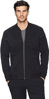 Amazon Brand - Peak Velocity Men's Metro Fleece Full-Zip Athletic-Fit Bomber Jacket
