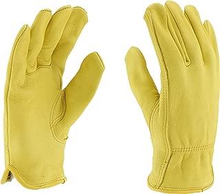 West Chester 85040 Premium Grain Deerskin Leather Unlined Driver Glove, 9-1 2