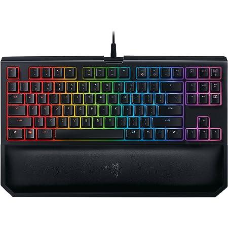 Razer BlackWidow TE Chroma v2 TKL Tenkeyless Mechanical Gaming Keyboard: Orange Key Switches, Tactile & Silent, Chroma RGB Lighting, Magnetic Wrist Rest, Programmable Macros, Classic Black