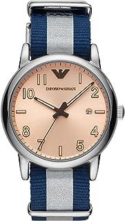 Emporio Armani Mens Analogue Quartz Watch with Nylon Strap AR11212