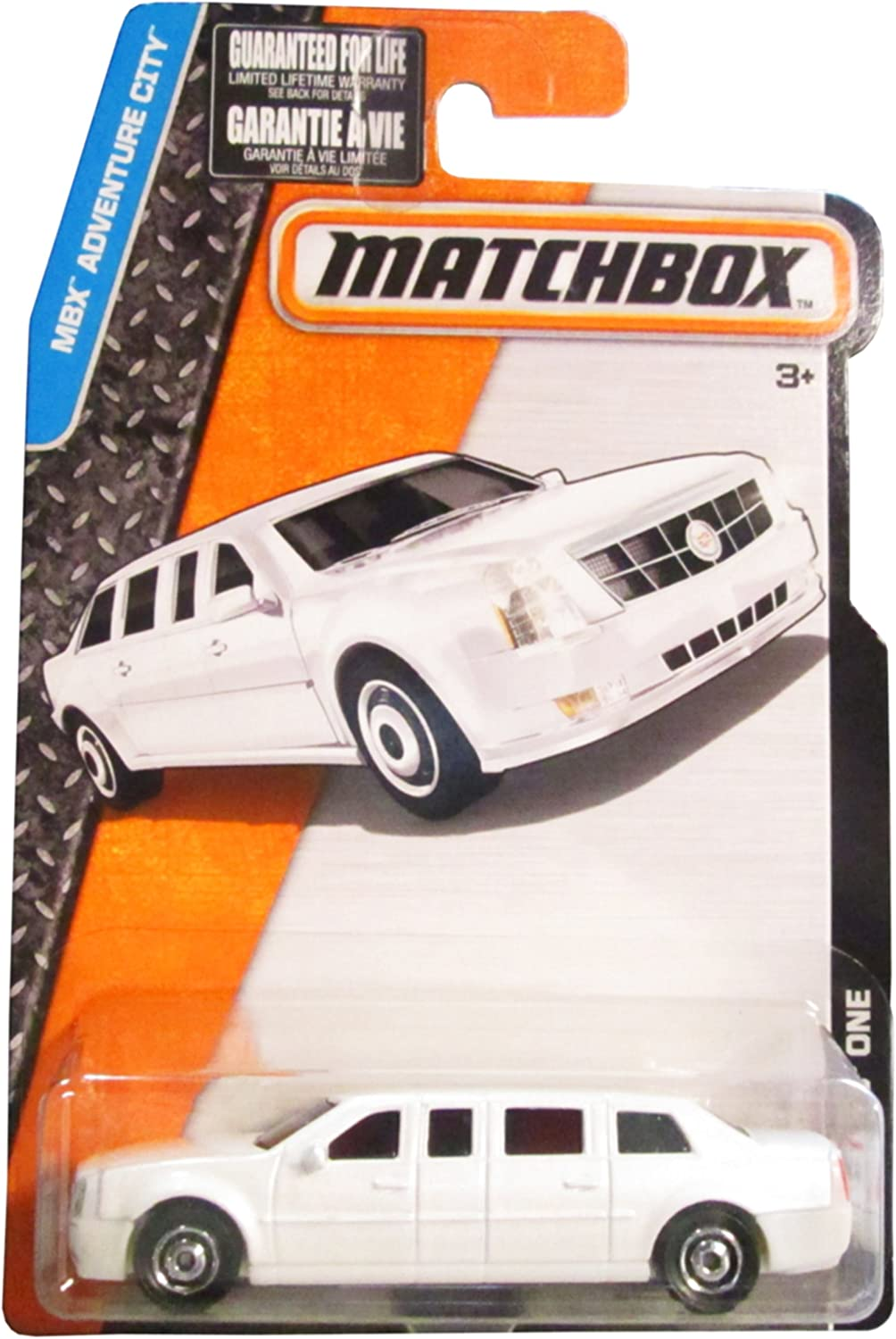 Matchbox, 2017 MBX Adventure City, Cadillac One Limo [White] 10 125