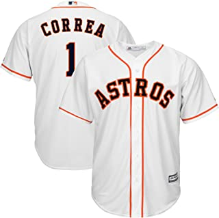 Outerstuff Carlos Correa Houston Astros MLB Majestic Youth 8-20 White Home Cool Base Replica Jersey