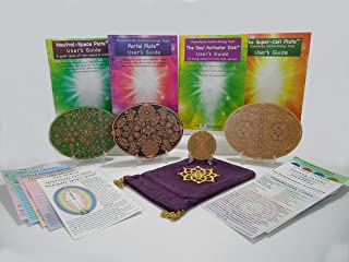 Sacred Geometry Spiritual Meditation Performance Harmonic Activation & Alignment Tool Powerforms 4 ~ Soul Activator Neutral Space Portal Super Cell Energy Healing Cards Velvet Carry Bag (Save $46.44)