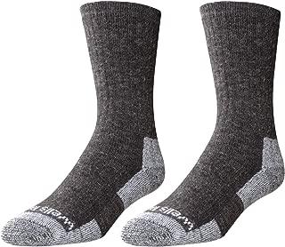 Wells Lamont Men's Wool Crew Socks, Dark Grey, Shoe Sizes 13 to 15, 2 Pair Pack (9332XLN)